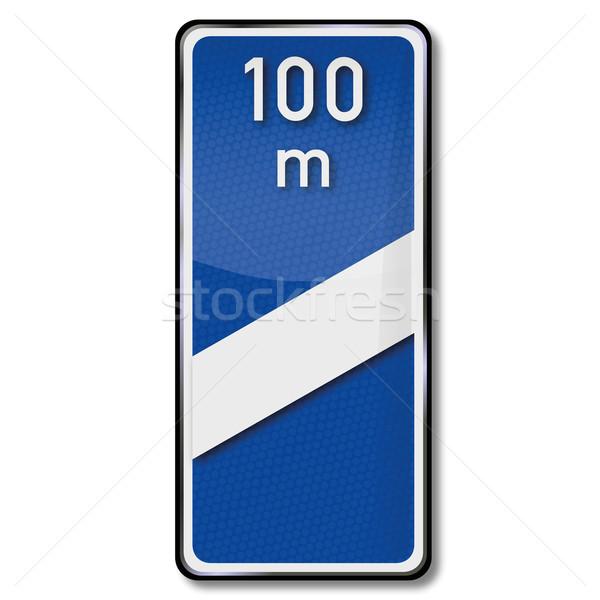 Traffic sign bake 100 meters Stock photo © Ustofre9