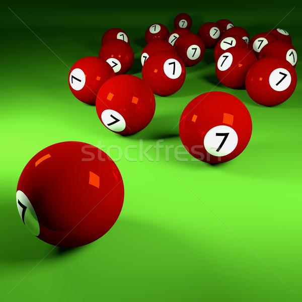 Brown billiard balls number seven  Stock photo © Ustofre9