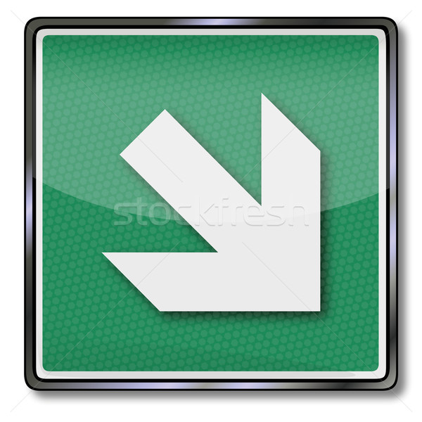 Additional sign exit sign arrow to the right bottom Stock photo © Ustofre9