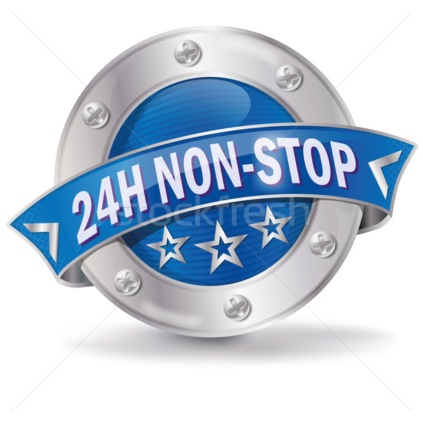 Button 24 hours non stop Stock photo © Ustofre9