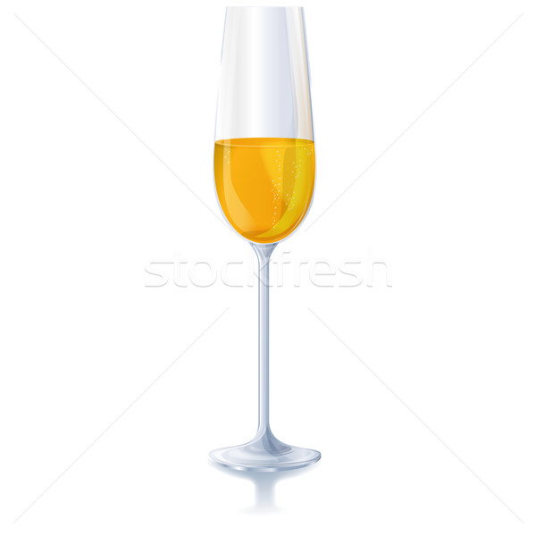 A glass of sparkling wine Stock photo © Ustofre9