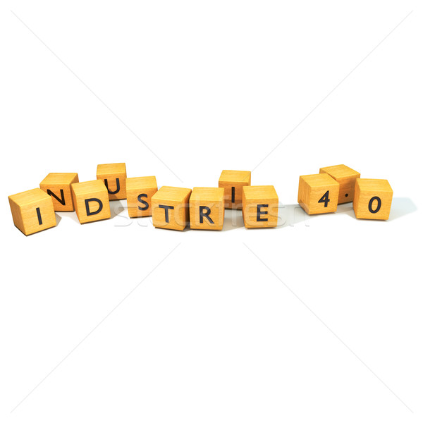 Dice with Industry 4.0 Stock photo © Ustofre9