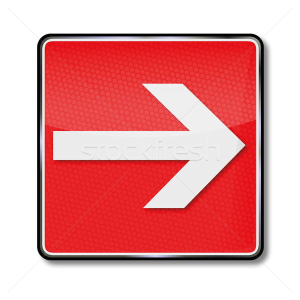 Fire safety sign arrow Stock photo © Ustofre9