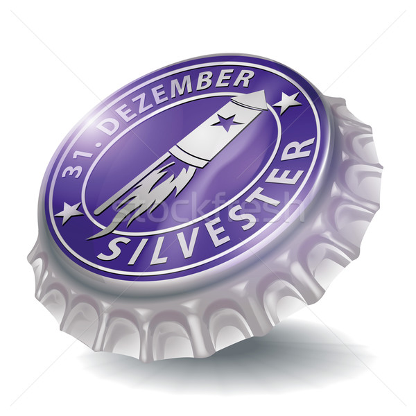 Bottle cap New Year's Eve and New Year's caps rocket Stock photo © Ustofre9