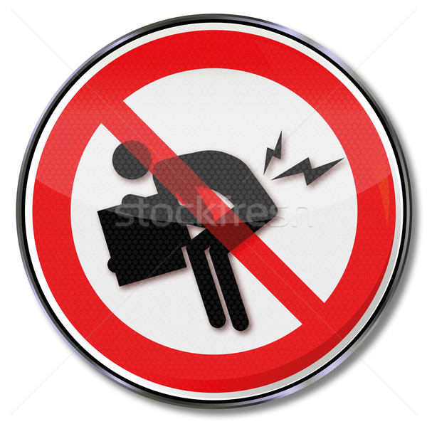 Prohibition sign against the herniated disc  Stock photo © Ustofre9