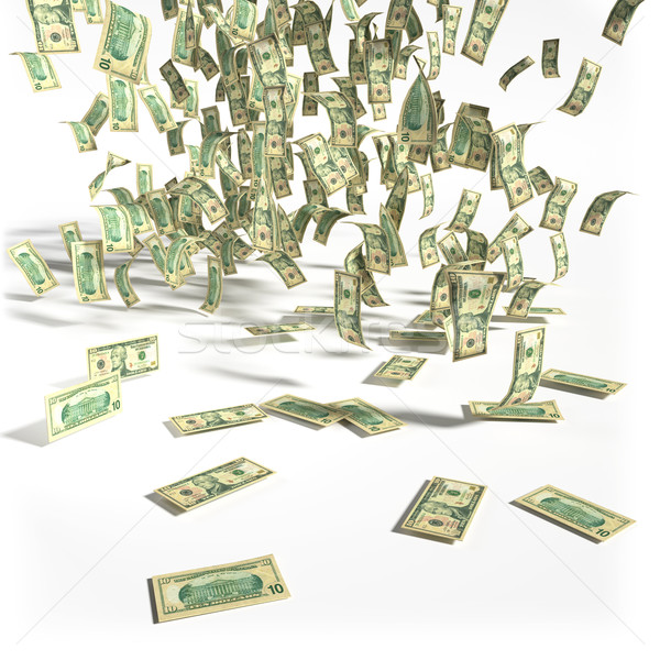 Money rain of 10 dollar bills Stock photo © Ustofre9
