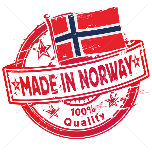 Rubber stamp made in Norway Stock photo © Ustofre9