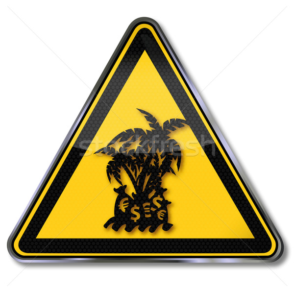 Sign tax haven on a small island Stock photo © Ustofre9