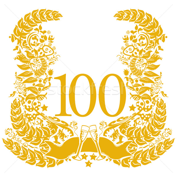 Vignette for the 100th anniversary Stock photo © Ustofre9