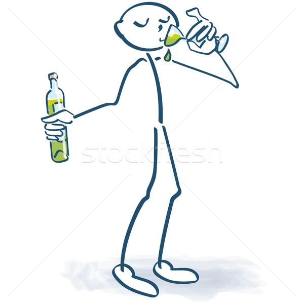 Witte wijn wijnproeven partij drinken fles Stockfoto © Ustofre9