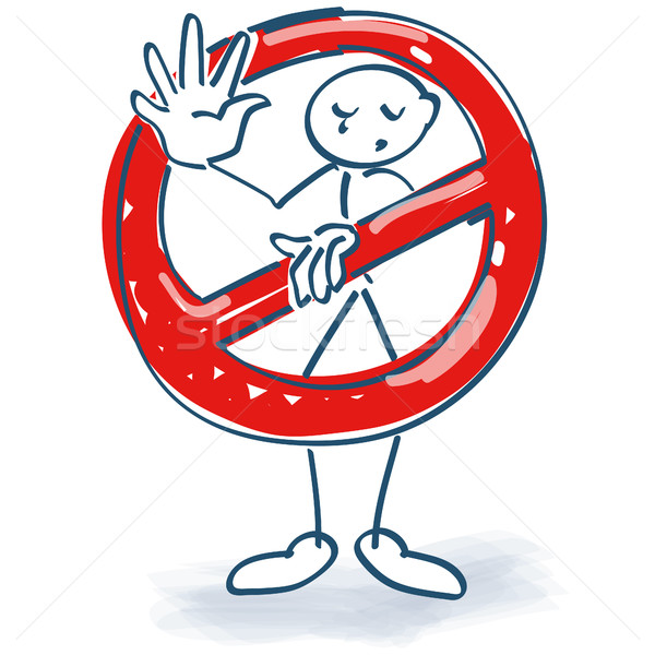 Stick figure with a ban Stock photo © Ustofre9