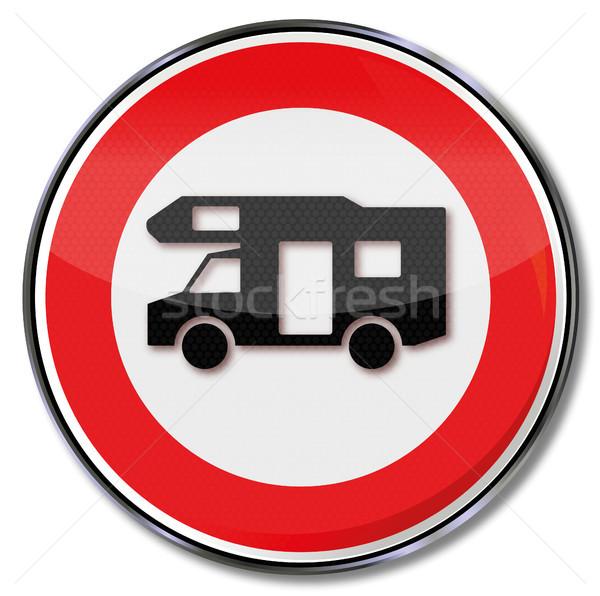 Divieto segno strada camion traffico segni Foto d'archivio © Ustofre9