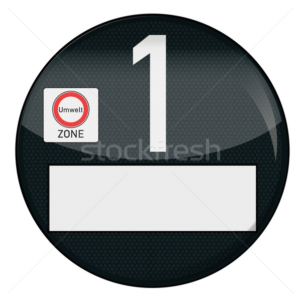 Black Environment badge number 1 Stock photo © Ustofre9