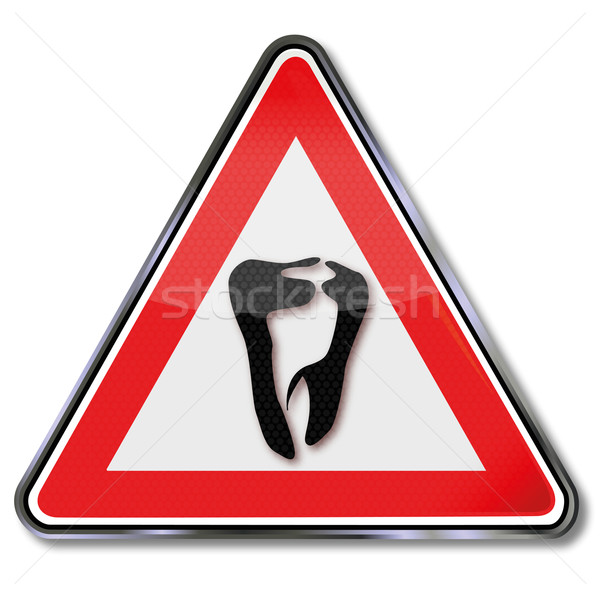 Sign tooth, dental technician and dentist Stock photo © Ustofre9