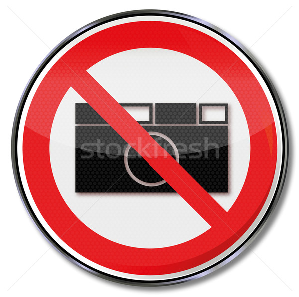 Prohibition sign no photography allowed Stock photo © Ustofre9