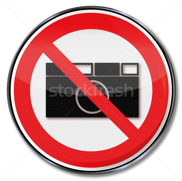 Assinar não fotografia permitido fogo Foto stock © Ustofre9