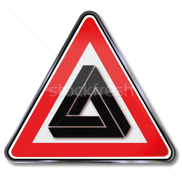 Imzalamak üçgen uzay beyin işaretleri Stok fotoğraf © Ustofre9