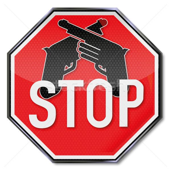 一時停止の標識 兵器 セキュリティ にログイン 郡 戦争 ストックフォト © Ustofre9