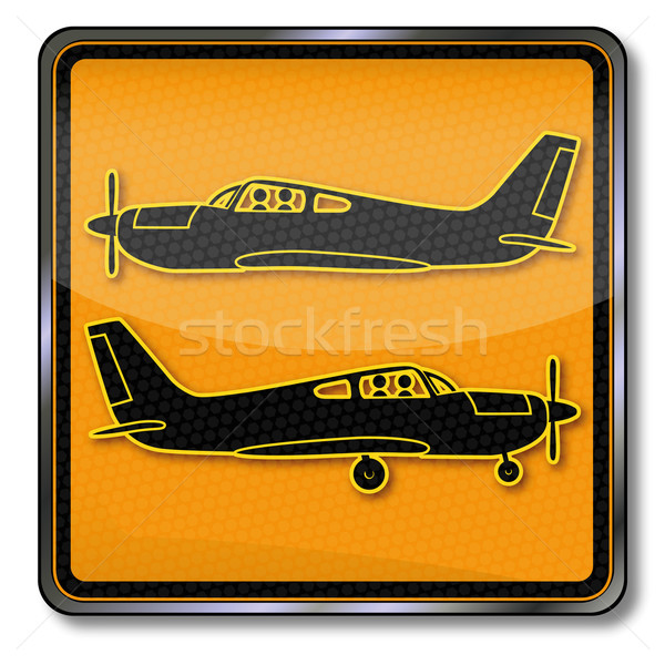 Sign with two small planes  Stock photo © Ustofre9