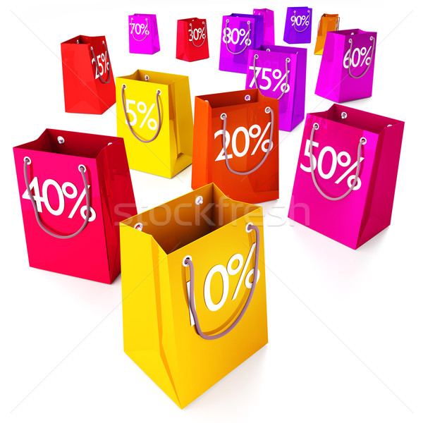 Shopping bags from 5 to 90% Stock photo © Ustofre9
