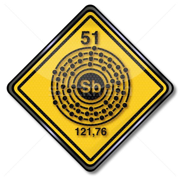 Signe chimie chimiques personnage signes recherche Photo stock © Ustofre9