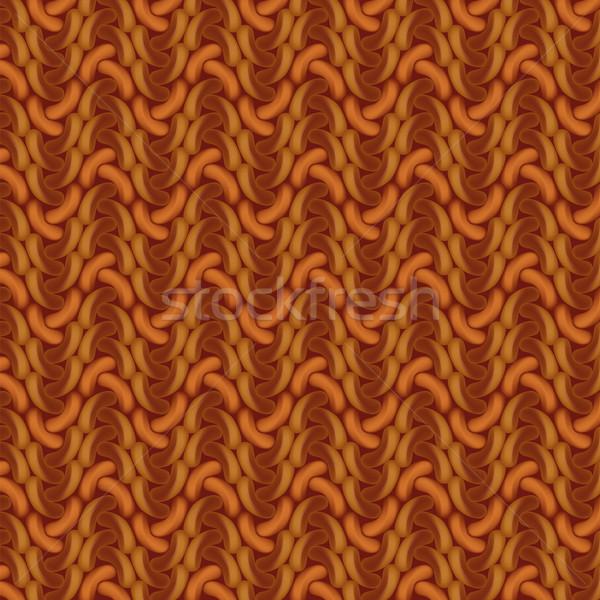 Marrom crochê textura abstrato projeto cozinha Foto stock © Ustofre9