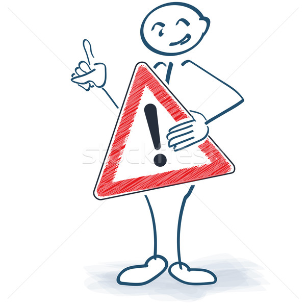 Stick figure with a sign and call sign in front of the body Stock photo © Ustofre9