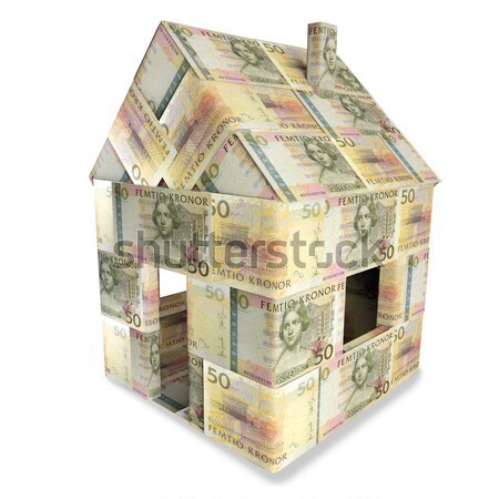 House made of  20 New Zealand Dollar notes Stock photo © Ustofre9