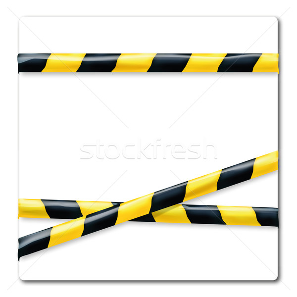 Barrier tape yellow and  black Stock photo © Ustofre9