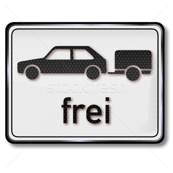 Traffic sign car trailer free free Stock photo © Ustofre9