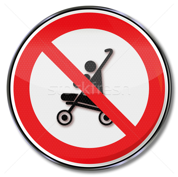 Prohibition sign caution and danger for stroller Stock photo © Ustofre9