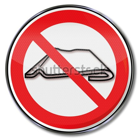 Prohibition sign please do not use staples and safety pins Stock photo © Ustofre9
