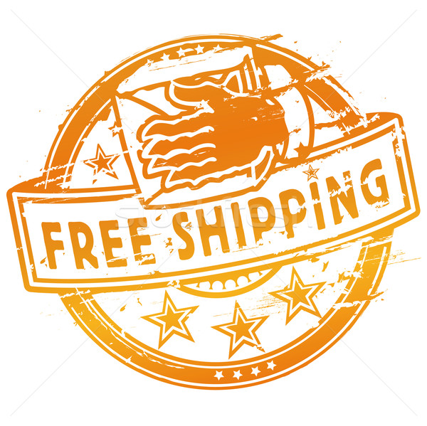 Rubber stamp free shipping Stock photo © Ustofre9