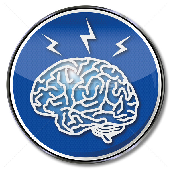 Shield the brain, headache and migraine  Stock photo © Ustofre9