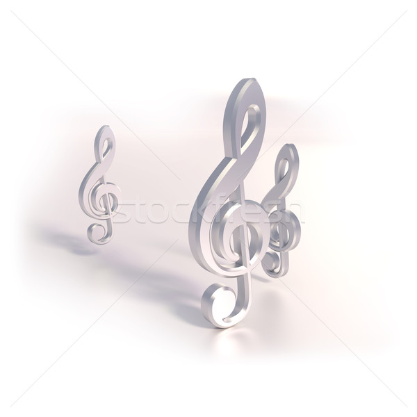 Three clefs and music Stock photo © Ustofre9
