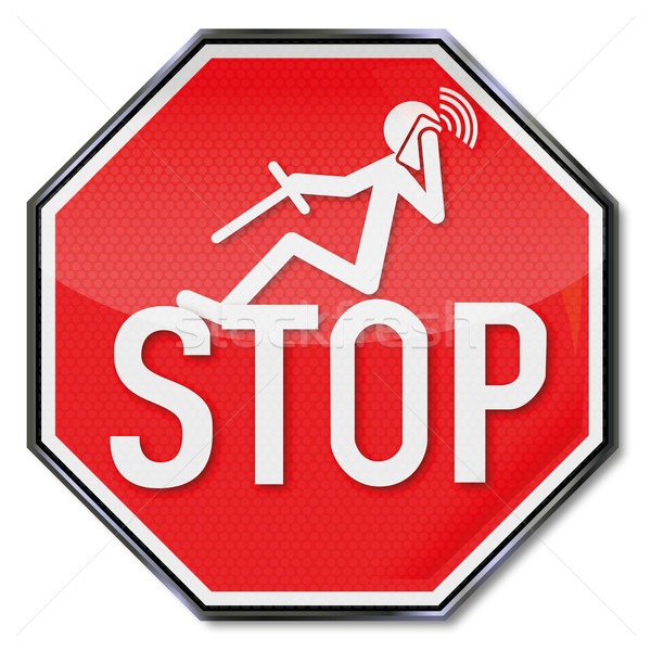 Stop sign for phoning while driving Stock photo © Ustofre9
