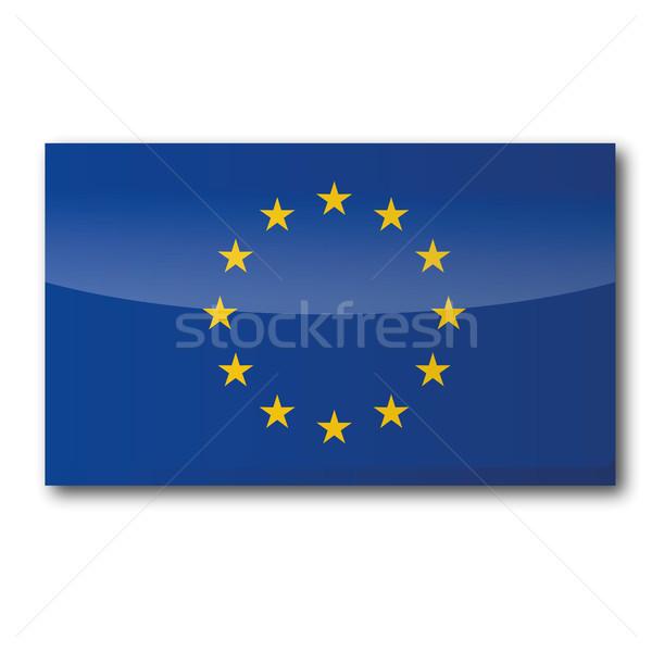 Foto stock: Bandeira · europa · mapa · atravessar · estrela · envelope
