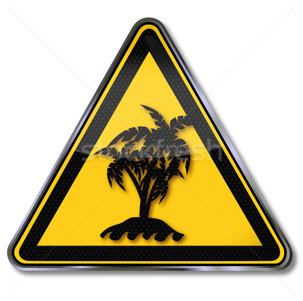 Sign solitary palm island Stock photo © Ustofre9