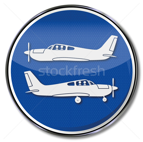 Sign aircrafts and planes, takeoff and landing Stock photo © Ustofre9