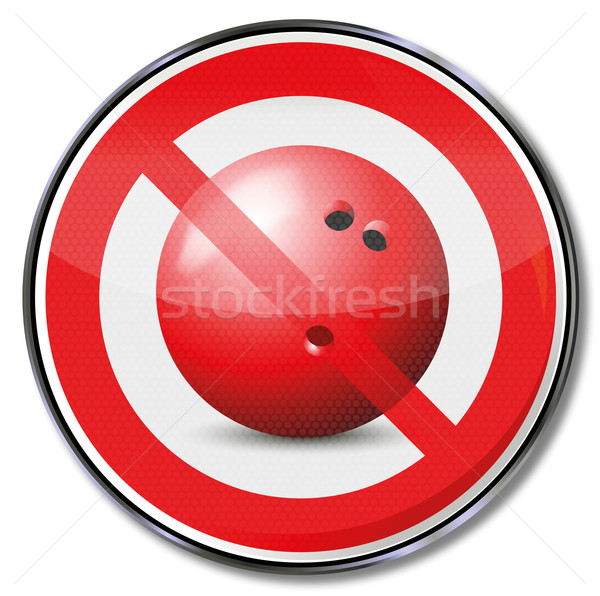 Prohibition sign for bowling ball and bowling  Stock photo © Ustofre9
