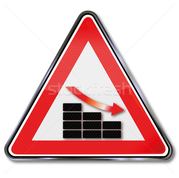 Sign bar chart, stock and downturn Stock photo © Ustofre9