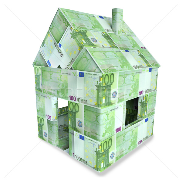 House made of 100 Euro bills  Stock photo © Ustofre9