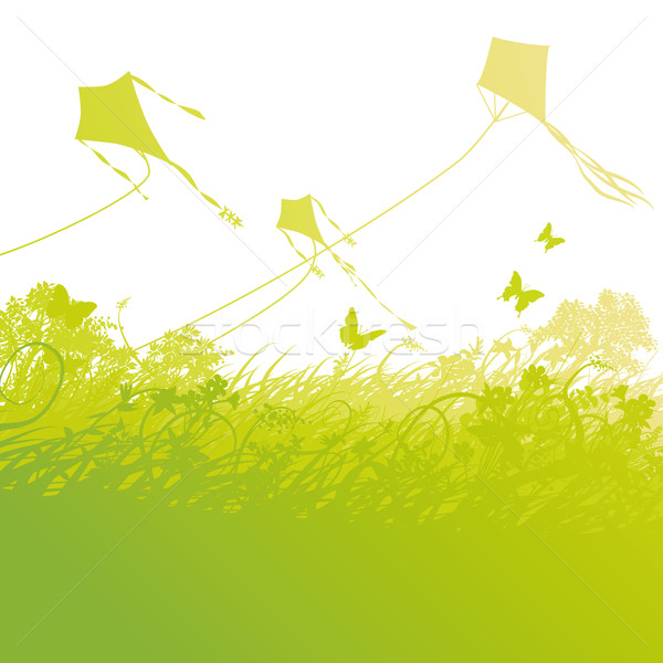 Kite flying in the air Stock photo © Ustofre9