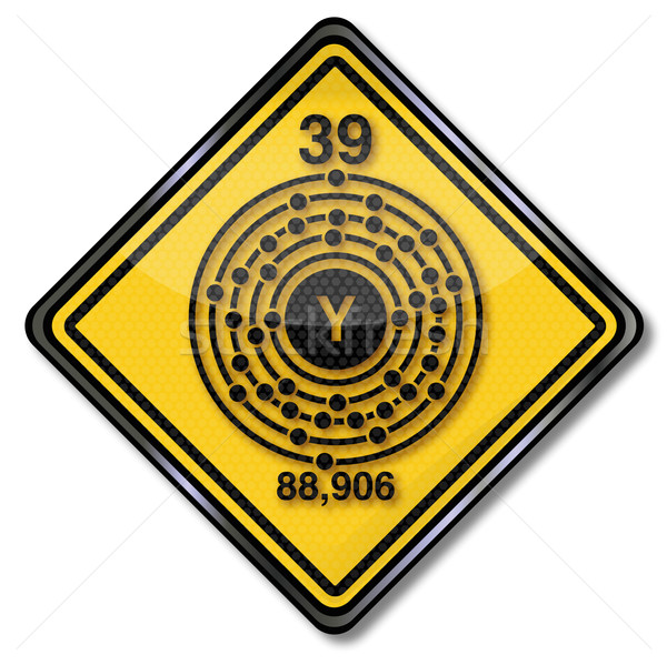 Sign chemistry character yttrium Stock photo © Ustofre9