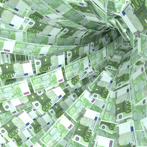 Money vortex of 100 euro notes Stock photo © Ustofre9