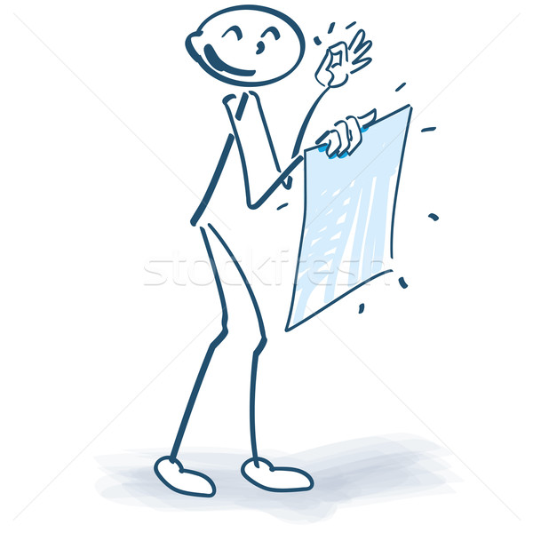 Stick figure with a fresh poster Stock photo © Ustofre9