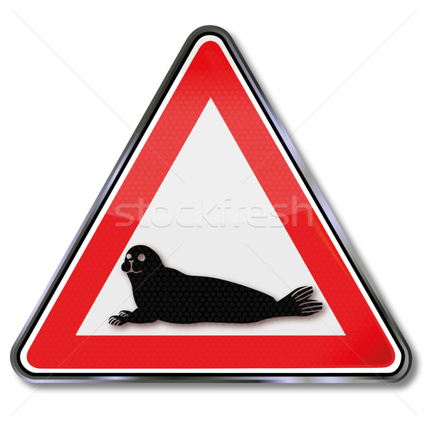 Sign attention seals Stock photo © Ustofre9