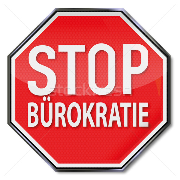 Senal de stop no burocracia financiar servicio archivos Foto stock © Ustofre9