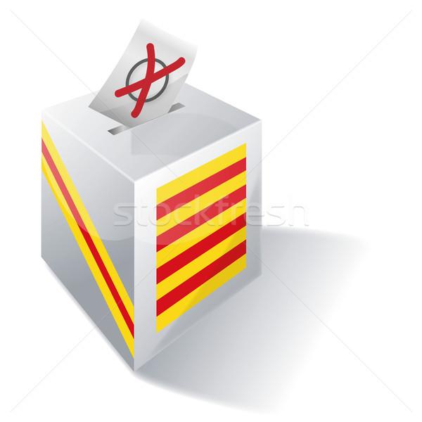 Ballot box Catalonia Stock photo © Ustofre9