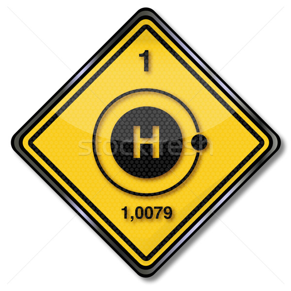 Sign chemistry character  hydrogen Stock photo © Ustofre9